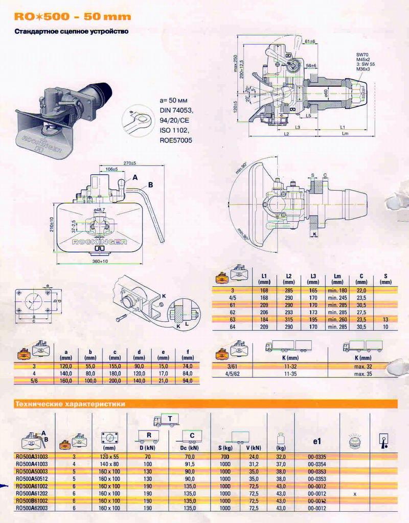 Фаркоп RO 500 (50 мм)